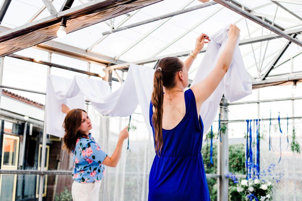Als weddingplanner werk je mee aan de versiering