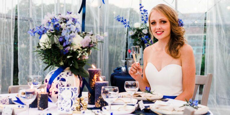 Styled shoot | Trouwen met een Delftsblauw tintje
